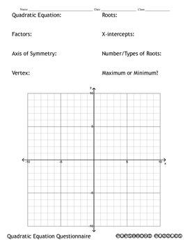 Quadratic Equation Questionnaire - PP