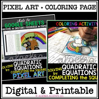St. Patrick's Day Algebra: Quadratic Equations by Completi