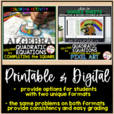 St. Patrick's Day Algebra: Quadratic Equations by Completi