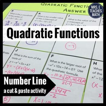 Quadratic Equations Cut and Paste Activity