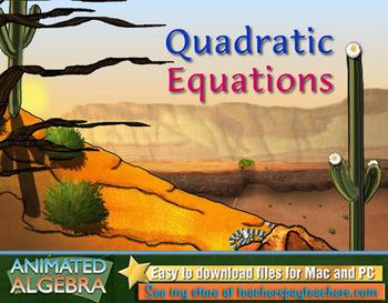 Quadratic Equations - Lesson Video