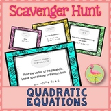 #StemTeachersofTpT: Quadratic Equations Scavenger Hunt Activity