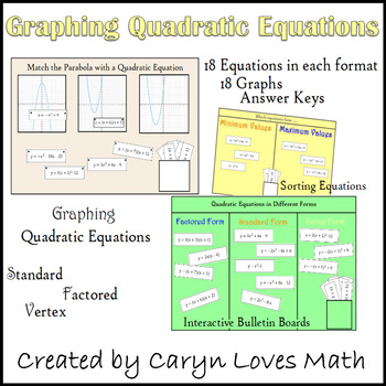Quadratic Equations and Graphs Sort and Interactive Bullet