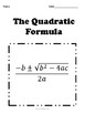 Quadratic Formula No Prep Lesson