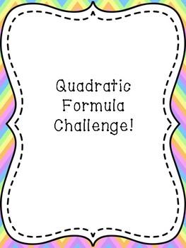 Quadratic Formula Song Sheet