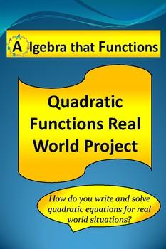 Quadratic Functions Math Project