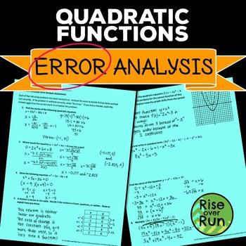 Quadratic Functions Error Analysis
