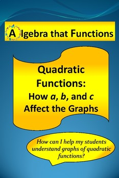 "Quadratic Functions Activity Exploring the Effects of ""a"","
