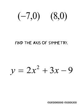 Quadratic Functions Scavenger Hunt - PP
