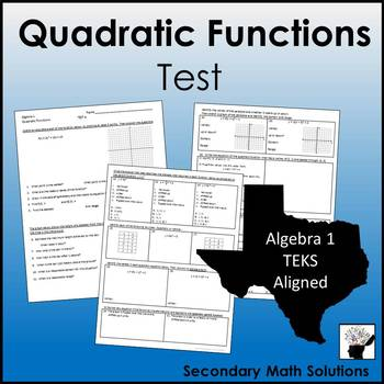 Quadratic Functions Test