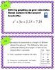 Quadratic Functions Unit Review Task Cards
