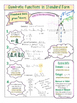 Quadratic Functions in Standard Form Coloring Note Sheets