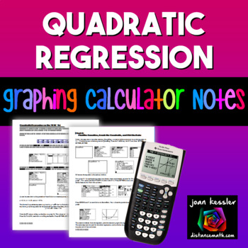 Graphing Quadratic Regression on the TI 83 TI 84 Graphing