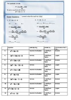 Quadratic Solving Using Graphs