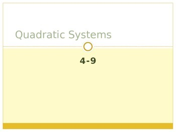 Quadratic Systems