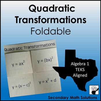 Quadratic Transformations Foldable