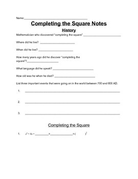 Quadratics Complete Chapter Including Activities, Guided N