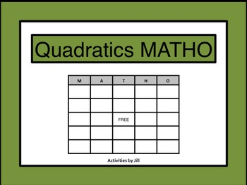 Quadratics MATHO