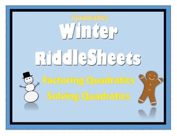 Quadratics Winter Riddle Sheets