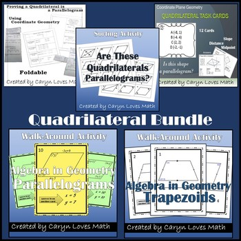 Quadrilateral Bundle~4 Activities~Is it a Parallelogram~Wa