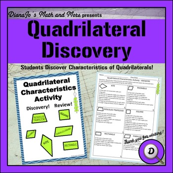 8th Grade Math Quadrilateral Discovery - A Hands On Activity