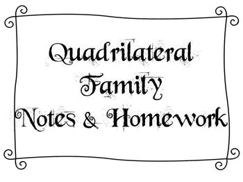 Quadrilateral Family (Notes)