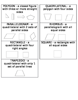 Quadrilateral Flash Cards