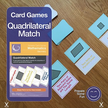 Quadrilateral Match Card Game