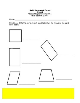 Quadrilateral Practice
