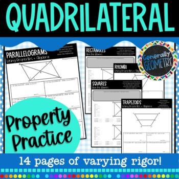 Quadrilateral Properties Practice: Parallelograms Rectangl