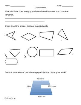 Quadrilateral homework