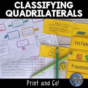 Classifying Quadrilaterals - Hierarchy, Foldable, and Acti