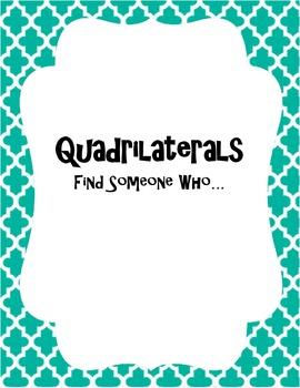 "Quadrilaterals ""Find Someone Who"""