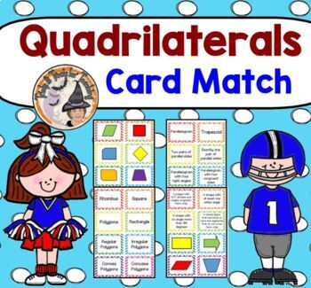 Quadrilaterals Memory Game Shape Definition Match Activity