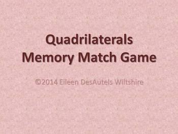 Quadrilaterals Memory Match Game