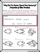 Quadrilaterals -  Properties of Kites Riddle Worksheet