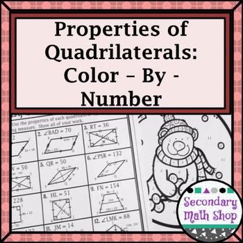 Quadrilaterals - Properties of Quadrilaterals Color-By-Num