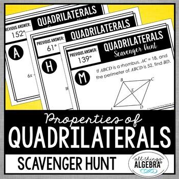 Quadrilaterals Scavenger Hunt