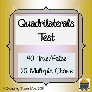 Quadrilaterals Test