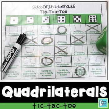 Quadrilaterals Tic-Tac-Toe