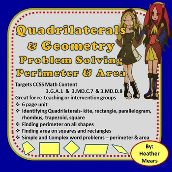 Quadrilaterals and Geometry Problem Solving  Perimeter and Area