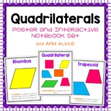 Quadrilaterals Posters and Interactive Notebook INB Set