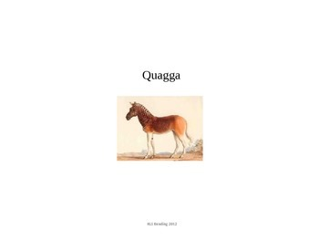 Quagga - Power Point - Information Facts Pictures