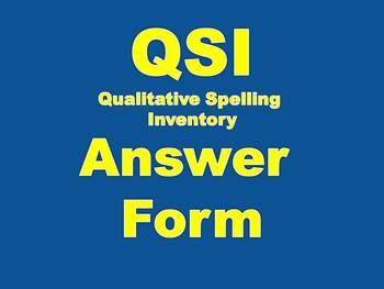 QSI Qualitative Spelling Inventory Student Sheet