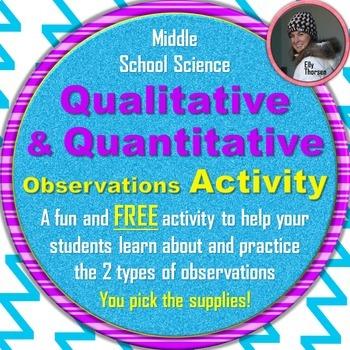 Qualitative and Quantitative Observations Activity