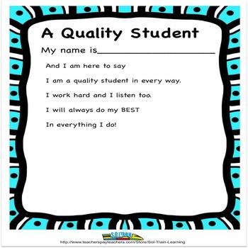 Quality Student Poem