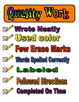 Quality Work Poster 1