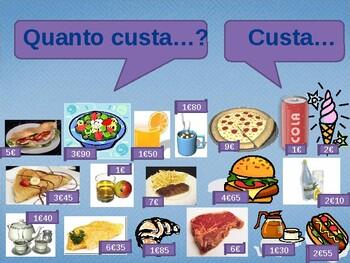 Quanto custa (Cost in Portuguese) power point activity