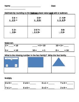 Quarter 1 Math Assessment