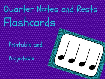 Rhythm Flashcards- Quarter Notes- FREE!